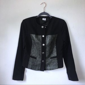 CAbi #3036 Mixed Media Button Front Panel Jacket